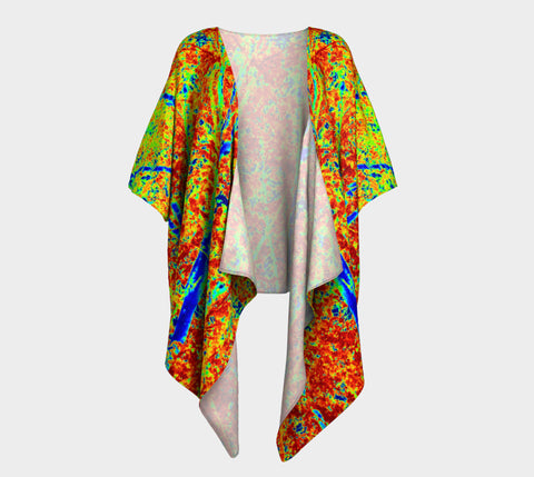 Fall Leaves Abstract Fashion Cardigan - Tru-Artwear.ca