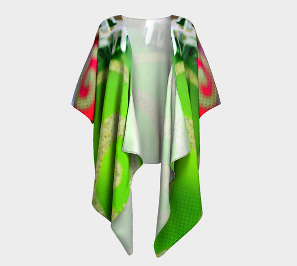 Z Green Christmas Ornament Draped Fashion Cardigan - Tru-Artwear.ca