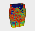 Red Trees Canada Fitted Skirt - Trū Canadian ArtWear by Nadia Bonello