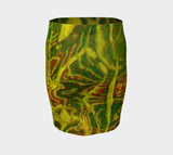 Green Red Water Fitted Skirt - Tru-Artwear.ca