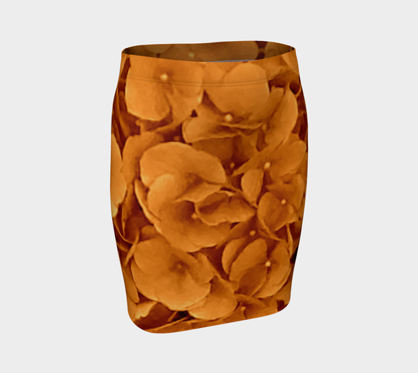 Amber Hydrangea Fitted Skirt - Trū Canadian ArtWear by Nadia Bonello