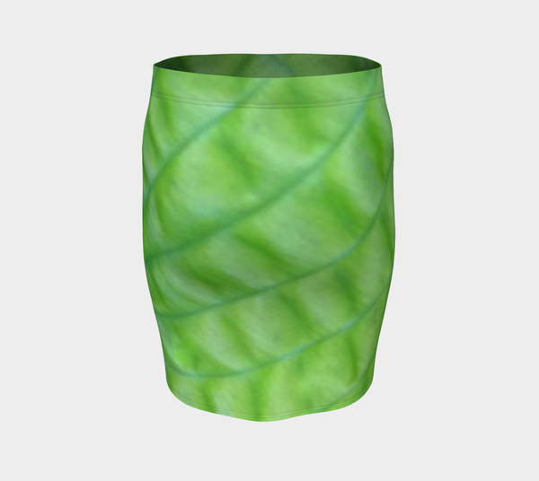 Hosta Greenery Fitted Skirt - Tru-Artwear.ca
