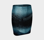 Turquoise Lights Fitted Skirt - Tru-Artwear.ca