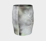 White Dandelion Fitted Skirt - Tru-Artwear.ca