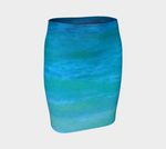 4. Water Colours Fitted Skirt No.1 - Tru-Artwear.ca