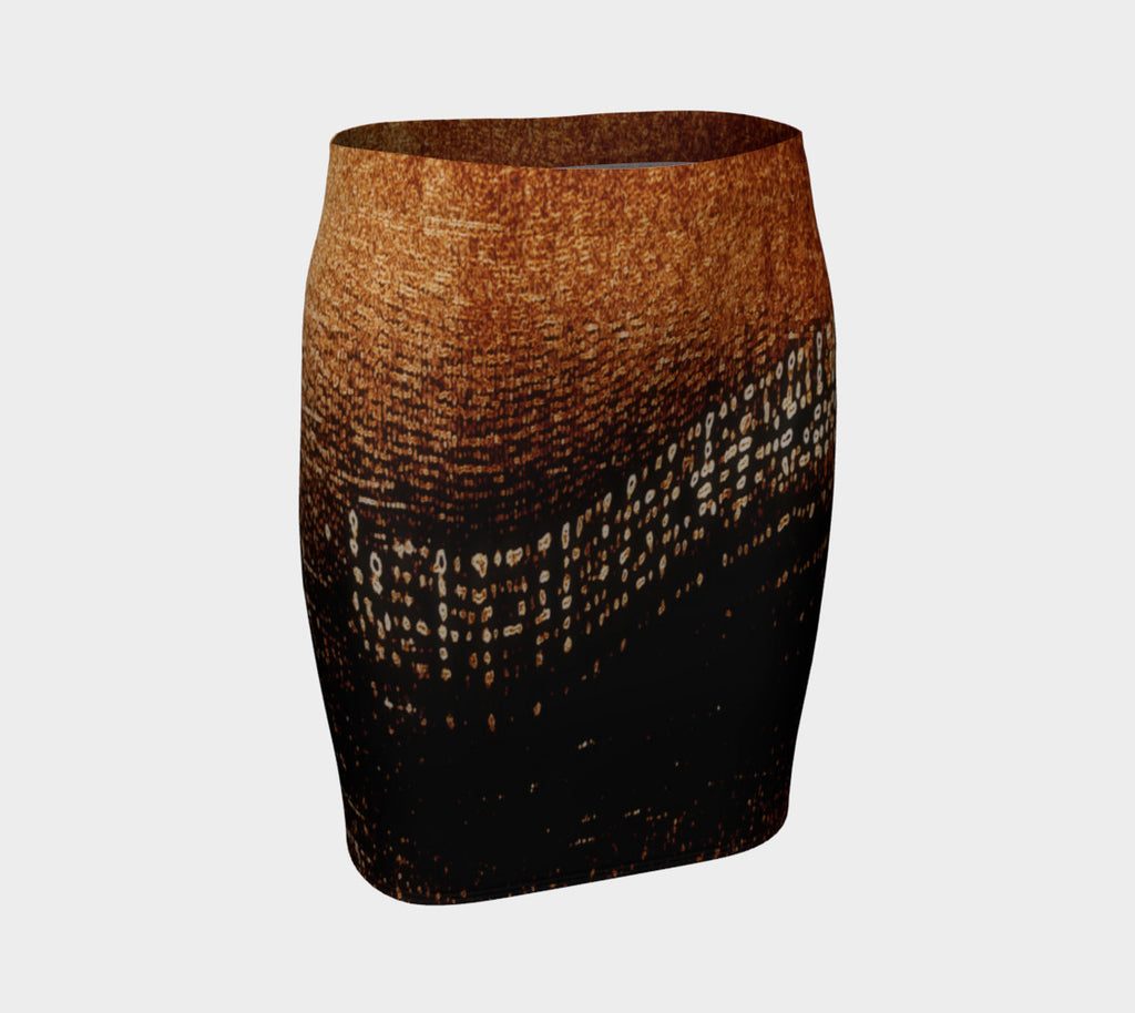 Amber Lights Fitted Skirt - Tru-Artwear.ca
