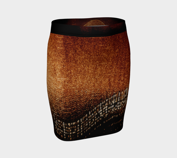 Amber Lights No.2 Fitted Skirt - Tru-Artwear.ca