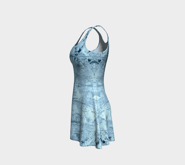 Blue Frost Flare Dress - Tru-Artwear.ca