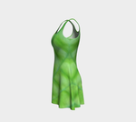 Hosta Greenery Flare Dress - Tru-Artwear.ca