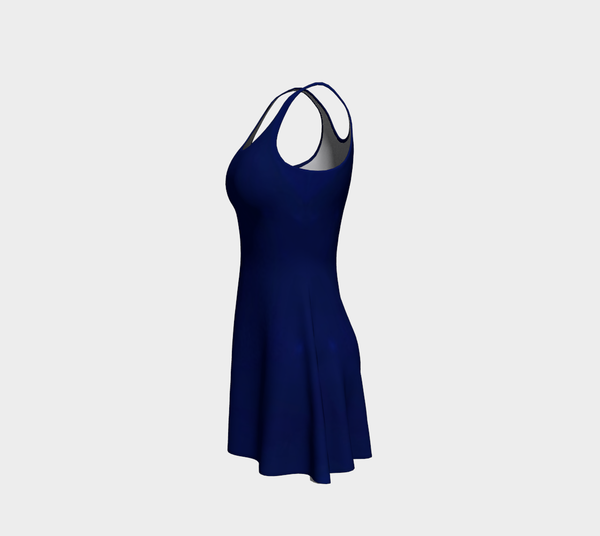 Indigo Flare Dress - Tru-Artwear.ca