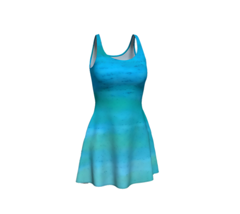 'Water Colours' Flare Dress No.1