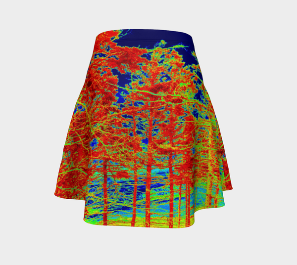Red Trees Canada Flare Skirt - Tru-Artwear.ca