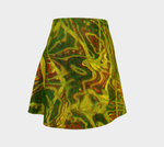 Green Red Water Flare Skirt - Tru-Artwear.ca
