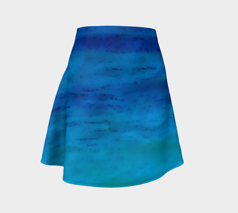 Water Colours Flare Skirt - Tru-Artwear.ca