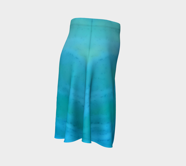 4. Water Colours Flare Skirt No.2 - Tru-Artwear.ca