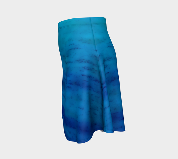 Water Colours Flare Skirt No.3 - Tru-Artwear.ca