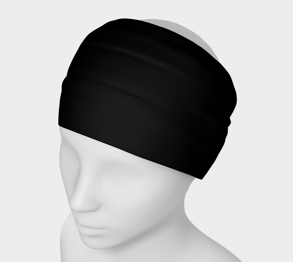 2 - Black Yoga Headband - Tru-Artwear.ca