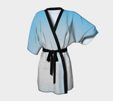 Blue Mountain Chiffon Kimono Robe |  Loungewear | Beachwear | Lingerie Robe - Tru-Artwear.ca