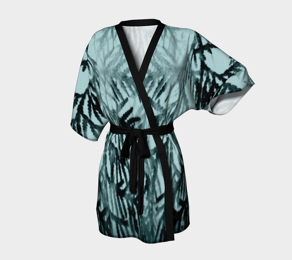 Just Beyond the Trees Chiffon Kimono Robe |  Loungewear | Beachwear | Lingerie Robe - Tru-Artwear.ca