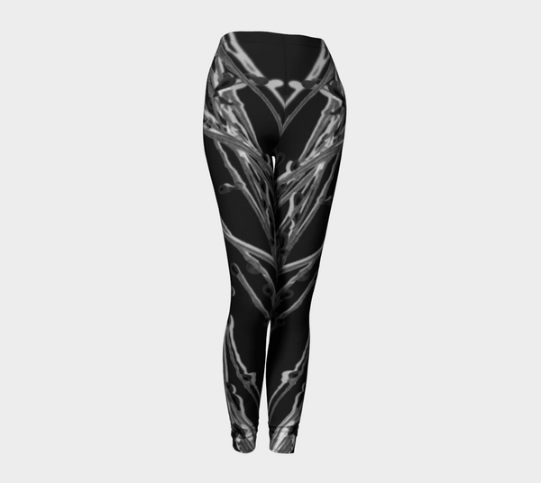 'Black Grasses' Leggings - Trū Canadian ArtWear by Nadia Bonello
