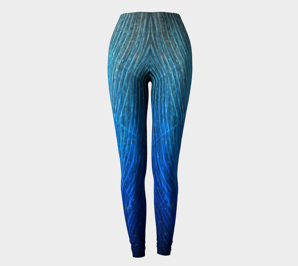 'Blue Web No.1' Leggings - Tru-Artwear.ca