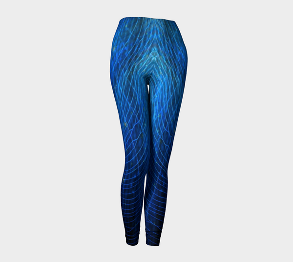 Blue Web No.2 Leggings - Trū Canadian ArtWear by Nadia Bonello