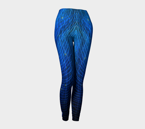 'Blue Web No.3' Leggings - Tru-Artwear.ca