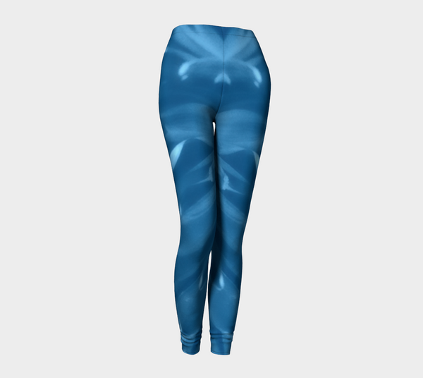 'Blue Mum Pin-up Girl' Leggings - Trū Canadian ArtWear by Nadia Bonello