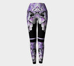 'Purple Hydrangea 1920s Retro Shorts' Leggings - Tru-Artwear.ca