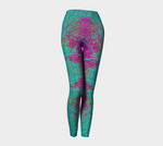 'Pink and Turquoise Boho' Leggings - Tru-Artwear.ca