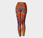 'Red Trees Shorties' Leggings No.1 - Tru-Artwear.ca