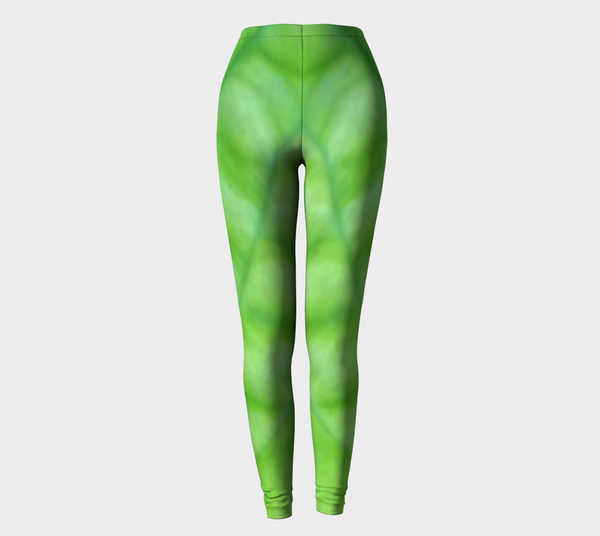 'Hosta Greenery' Leggings No.2 - Tru-Artwear.ca