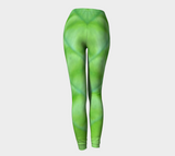 'Hosta Greenery Angel Wing' Leggings No.3 - Tru-Artwear.ca