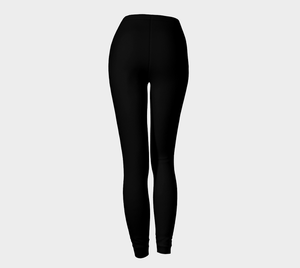 'Solid Black' Leggings - Tru-Artwear.ca