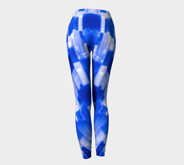 """Blue Bow"" Leggings - Tru-Artwear.ca"