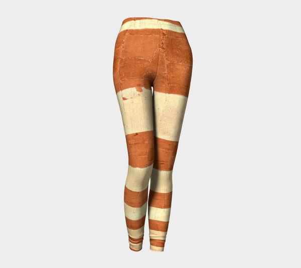 Grunge Maple Street Lines Leggings - Tru-Artwear.ca