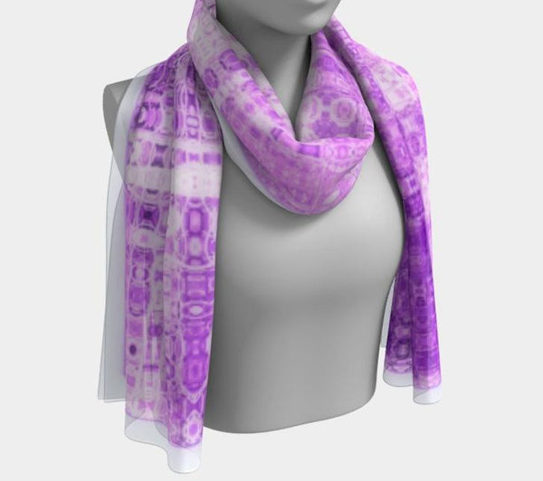 "Shawls | ""Purple and White Mosaic"" Shawl 