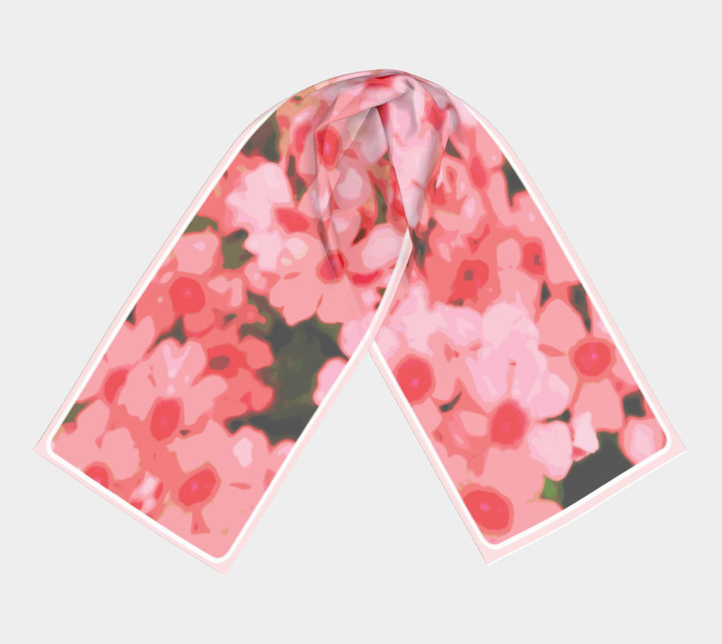 """Modern Pink Flowers"" Shawl* 