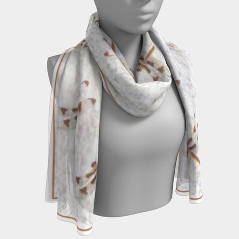 Dragonflies Dancing Shawl | Wraps |  Long Scarf | 2 Sizes > - Tru-Artwear.ca