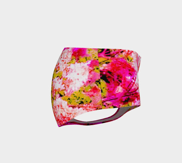 2 - Pink Hydrangea Floral Mini Shorts | Beach Wear - Tru-Artwear.ca