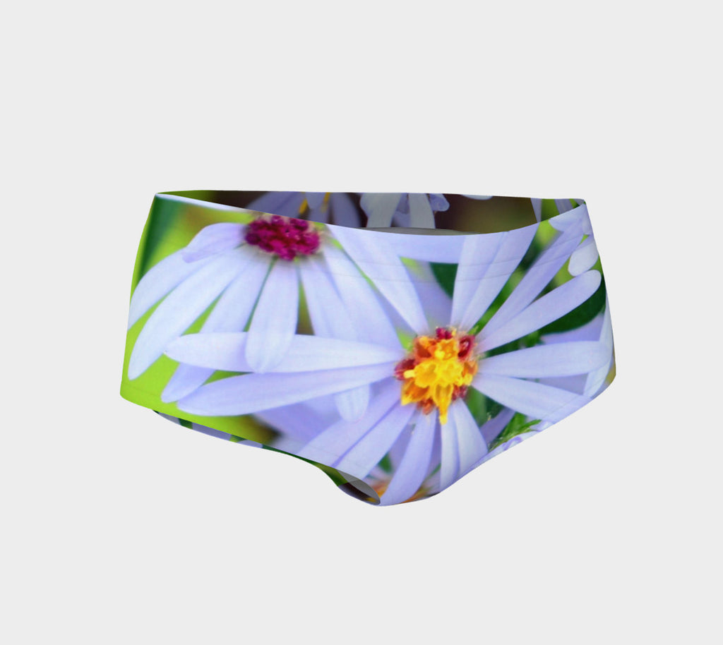 2 - Wild Flowers Mini Shorts | Beach Wear - Tru-Artwear.ca
