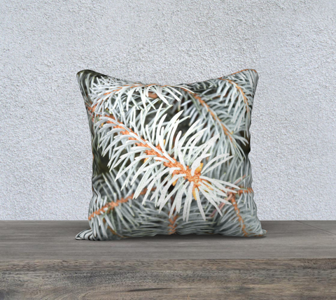 "Silver Spruce Throw Pillow 18"" - Tru-Artwear.ca"