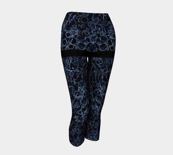 YC - Blue Vine Mini Skirt Yoga Capris - Tru-Artwear.ca