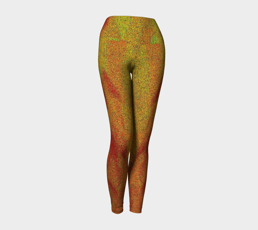 1 YL - Abstract Flower Yoga Leggings - Tru-Artwear.ca