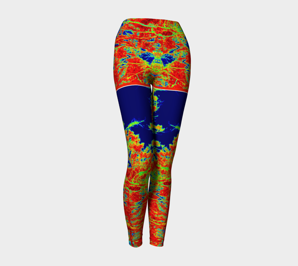 1 YL - Red Trees Shorties Yoga Leggings #3 - Tru-Artwear.ca