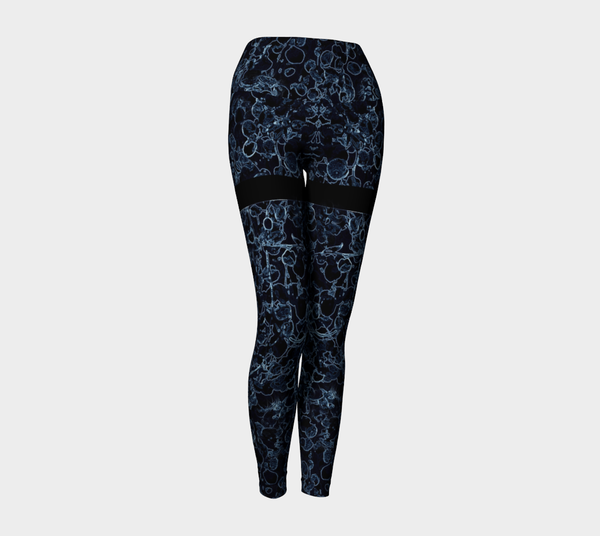 YL - Blue Ombre Yoga Leggings - Tru-Artwear.ca