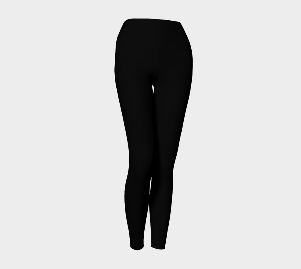 1 YL - All Black Yoga Leggings _ - Tru-Artwear.ca