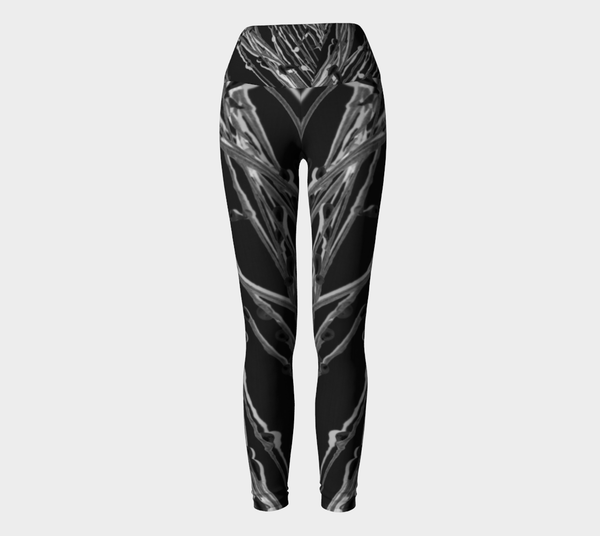 1 YL - Black Grasses Yoga Leggings No.2 - Tru-Artwear.ca