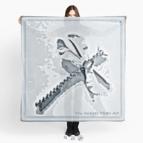Blue Grey Dragonfly Beach Wrap - Tru-Artwear.ca