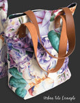 Pink Mod Flowers Urban Canvas Tote